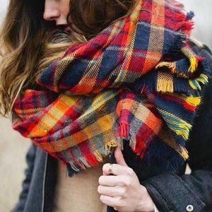 Rectangular Fall Tartan scarf